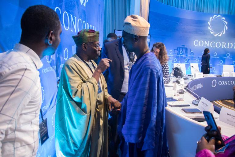 Olumide Adeleye with President Olusegun Obasanjo